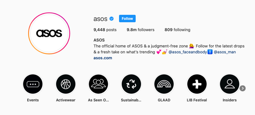 corporate style Asos