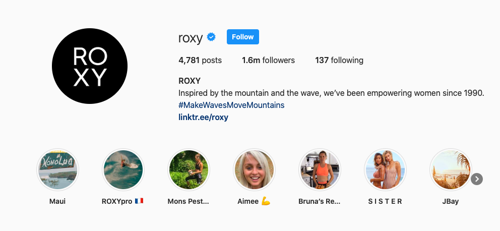 Instagram Roxy