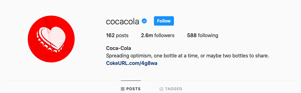 Coca Cola Instagram